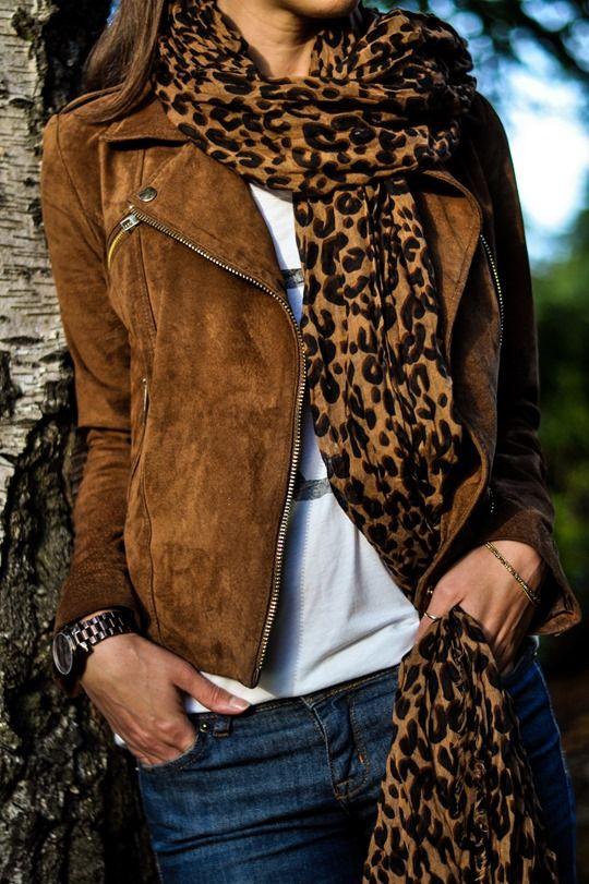 leopard sjaal pinterest