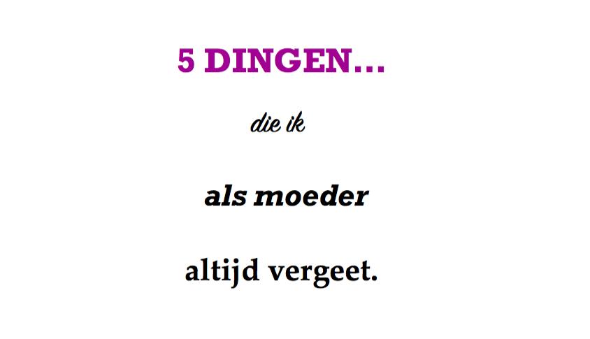 5 dingen